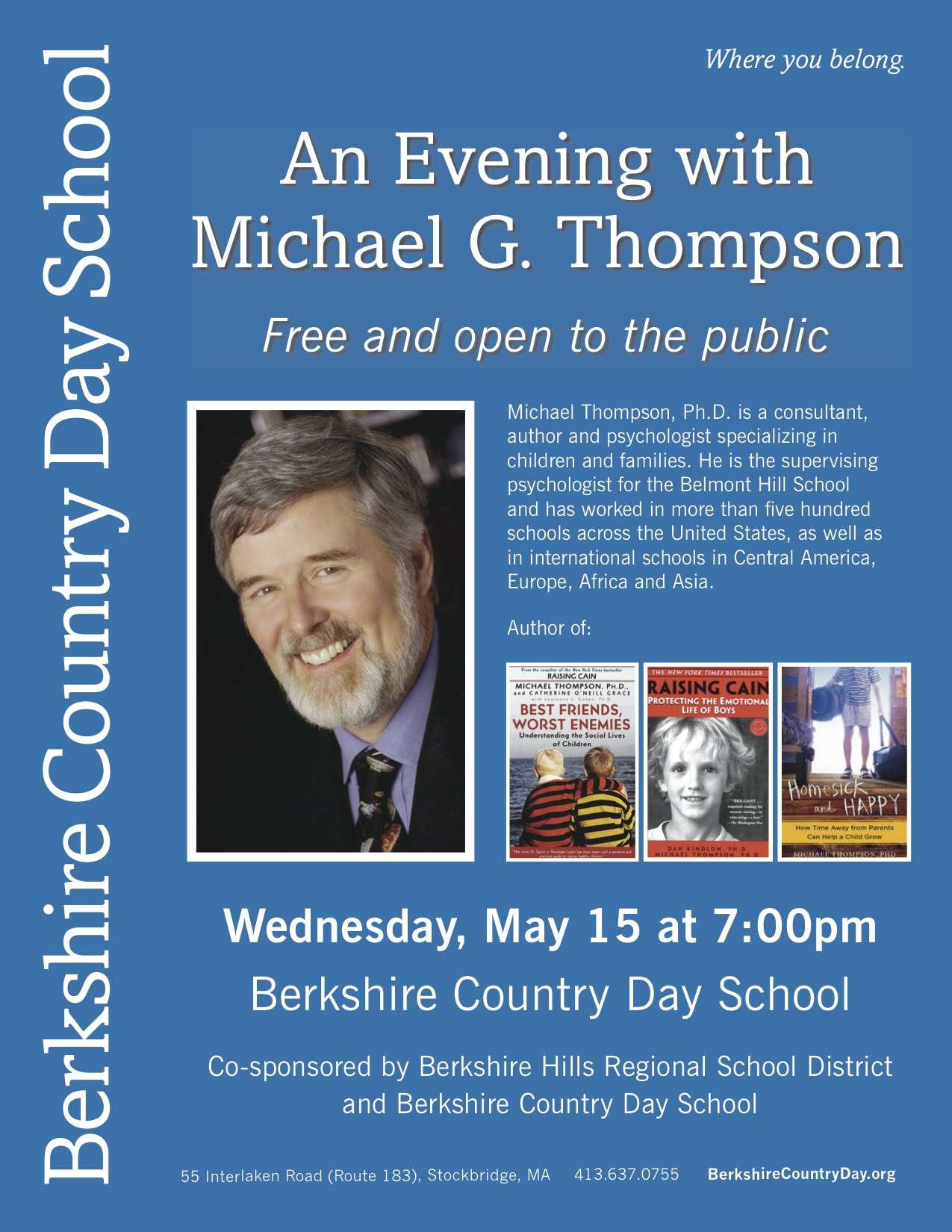 Thompson event flyer