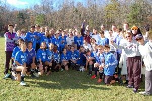 With the Upper School after the Faculty-Student Soccer Game